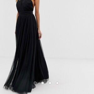 ASOS black gown dress
